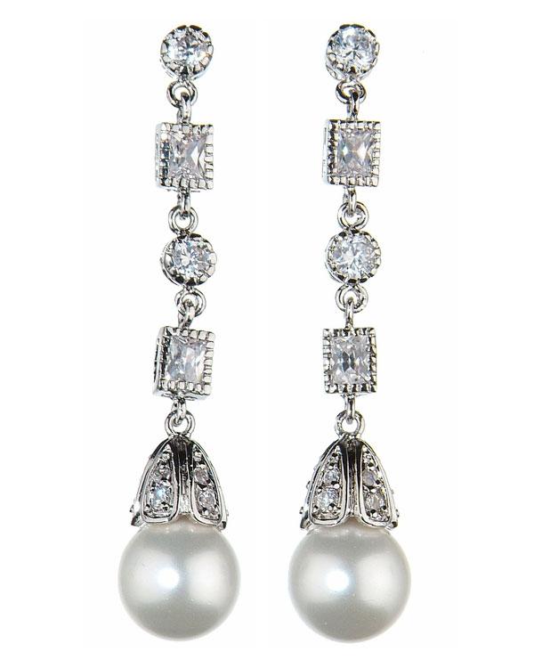 antique pearl earrings