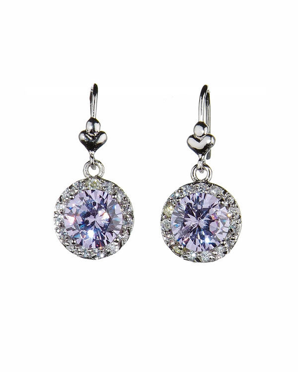 grandeur earrings lilac