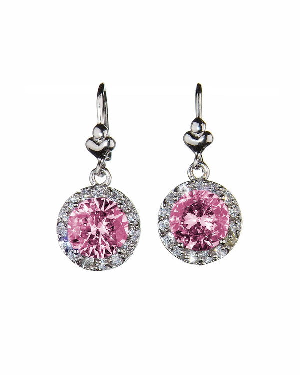 grandeur earrings pink