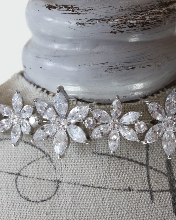 Bridal Headband with cubic zirconia