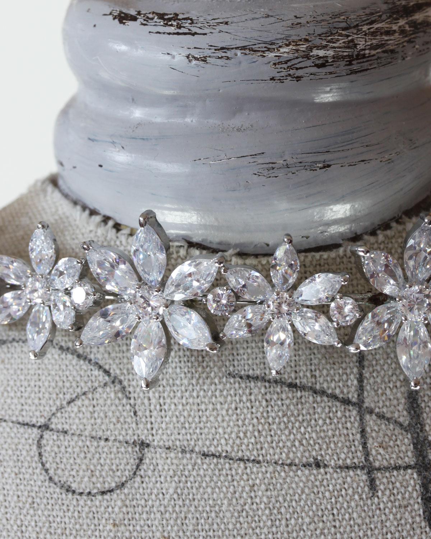 Bridal Headband with cubic zirconia
