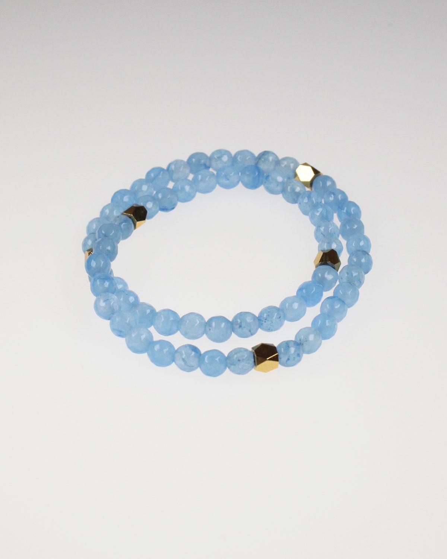 blue jade strech bracelet
