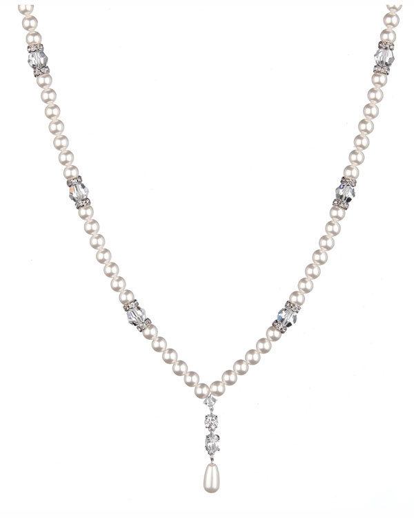supreme swarovski necklace pearl