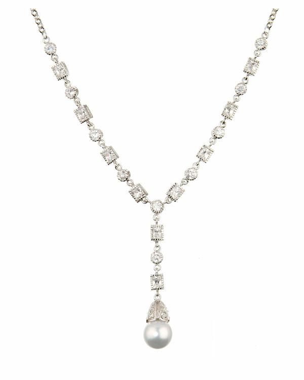 simple antique pearl necklace