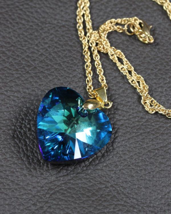 SWAROVSKI HEART BERMUDA BLUE