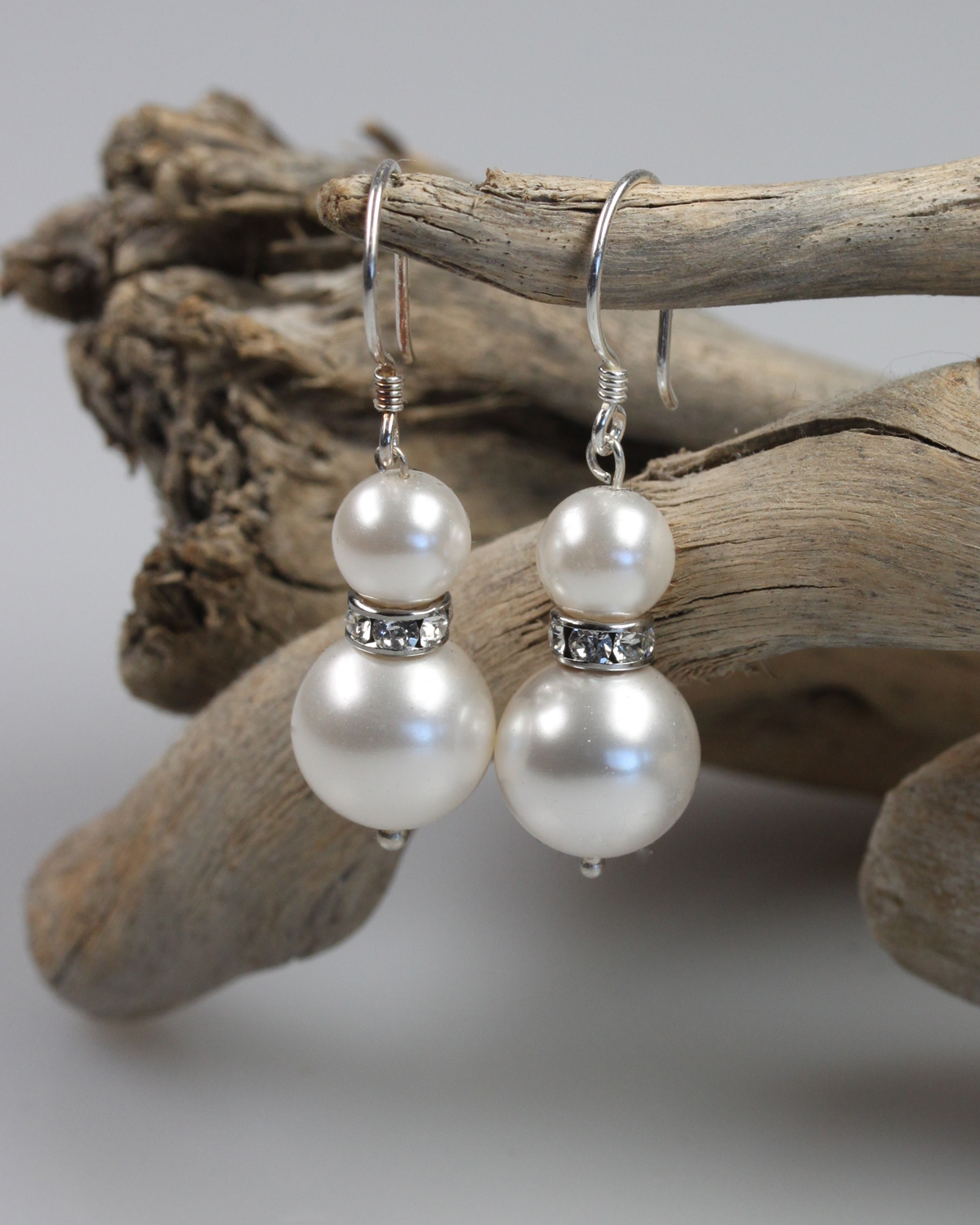 nemours swarovski pearls earrings