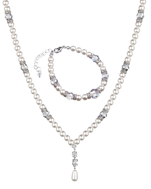Supreme Swarovski Set-Pearls