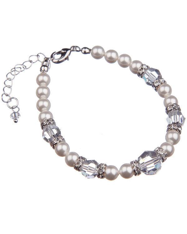 supreme swarovski pearl bracelet