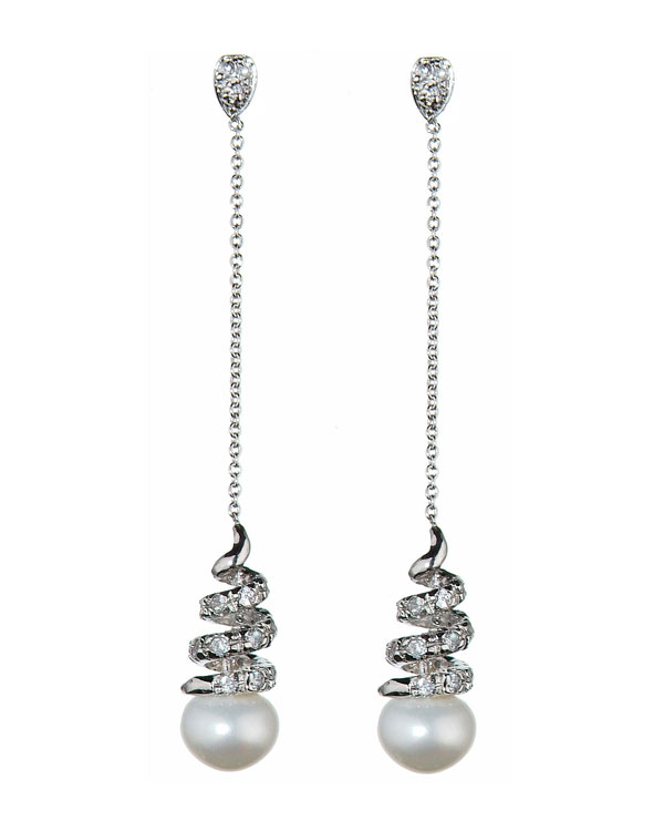 athena pearl earrings