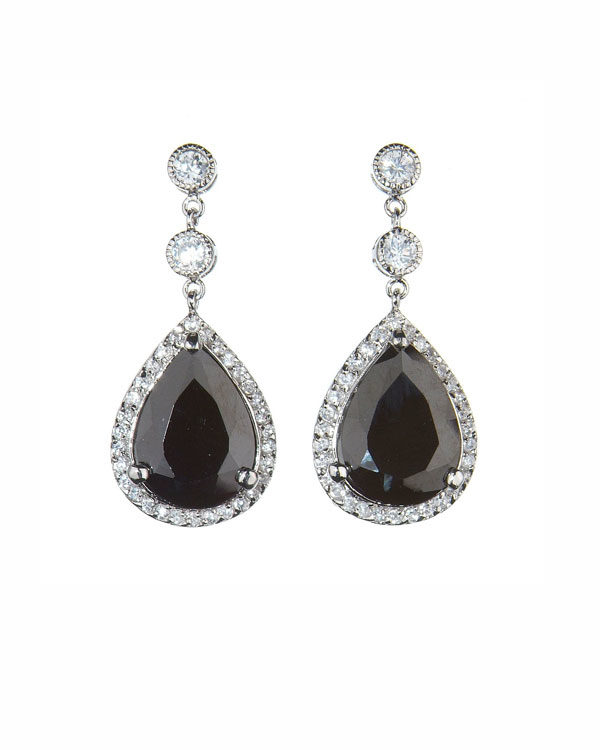decadence earrings black