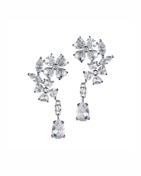 bouquet drop earrings