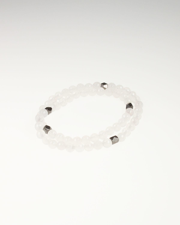 white jade strech bracelet