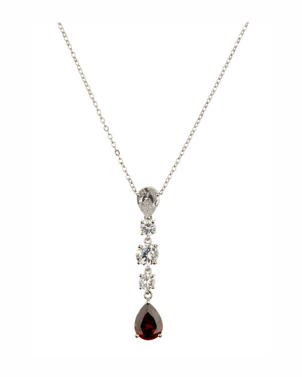 evening elegance necklace red