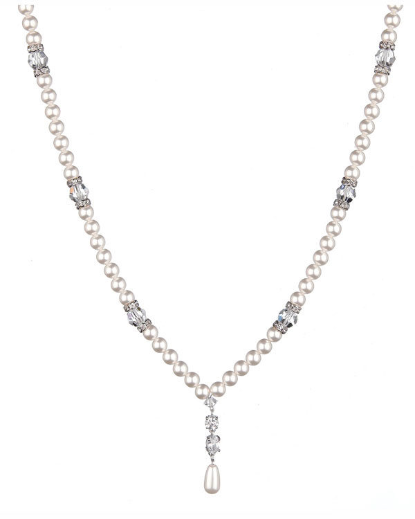 supreme swarovski necklace pearl