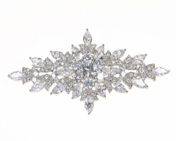 snowflake hairclip with cubic zirconia