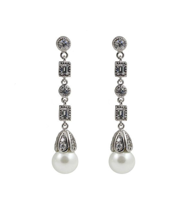 Prive Bridal antique pearl earring