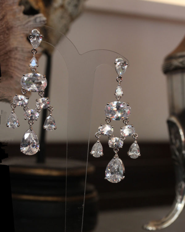 heirloom chandelier bridal earrings