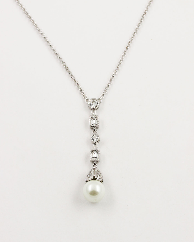 Simple Antique Pearl Necklace Prive Bridal